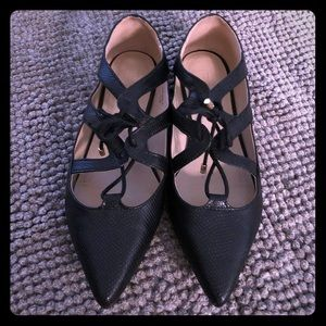 Topshop Flats 38 or 7.5 in Black Almost New
